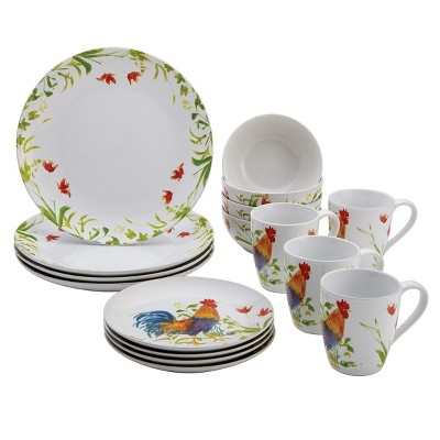 Bonjour Meadow Rooster 16 Piece Dinnerware Set