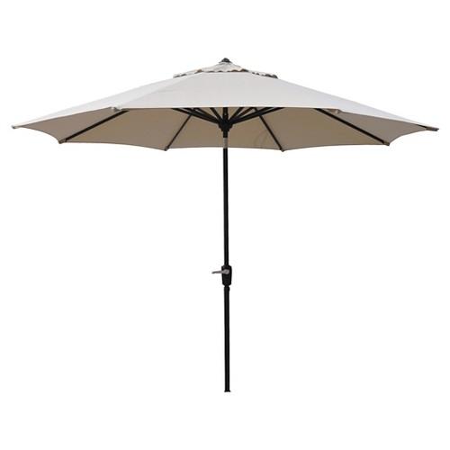 Smith And Hawken 10 Aluminum Auto Tilt Patio Umbrella Ebay