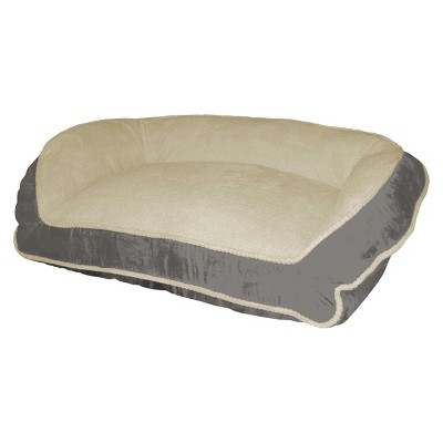 Paws & Claws Micro Suede Couch Style Bolster Bed - Charcoal