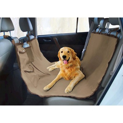 Yes Pets Oxford Water Proof Hammock Style Car Seat Cover - Tan