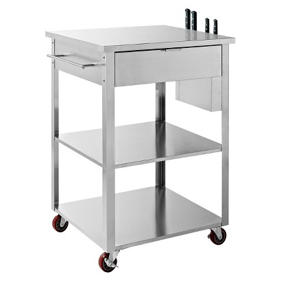 Crosley Culinary Prep Kitchen Cart Stainless Steel Product Details