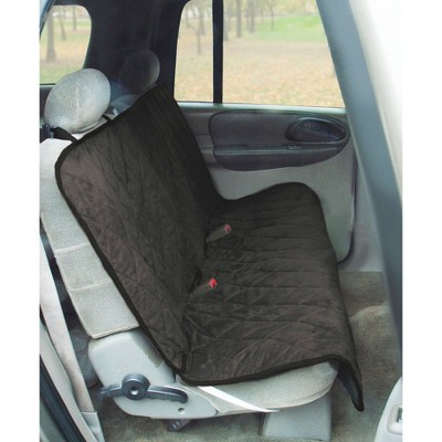 Yes Pets Quilt Suede Water Proof Bench Style Car Seat Cover - Black