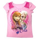 Disney® Frozen Toddler Girls' Anna and Elsa Tee Shirts - Pink