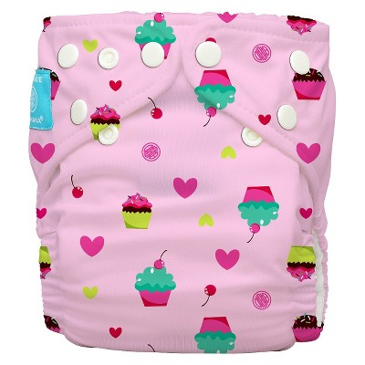 Charlie Banana Reusable Diaper - One Size, Cupcakes