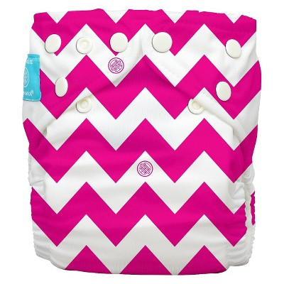 Charlie Banana Reusable Diaper - One Size, Pink Chevron