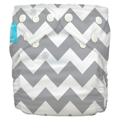 Charlie Banana Reusable Diaper - One Size, Grey Chevron