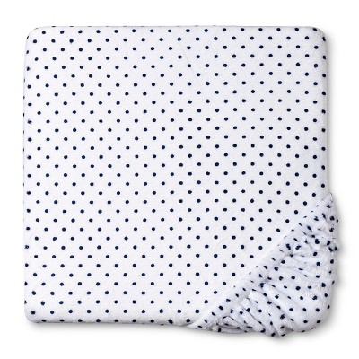 Circo™ Plush Sheet - Navy Dot