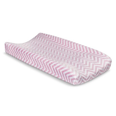 Circo™ Changing Pad Cover - Pink Chevron