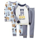 Just One You™ Made by Carter's&#174 Toddler Boys' Rhino/Football 4-Piece Mix & Match Pajama Set