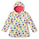 Girls' Floral Raincoat - Almond Cream