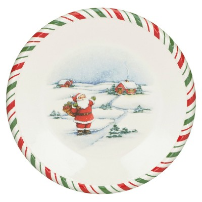 Kathy Ireland Home by Gorham Once Upon a Christmas Salad Plate Set of 4