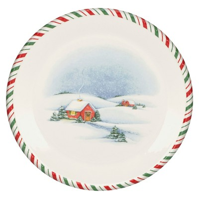 Kathy Ireland Home by Gorham Once Upon a Christmas Dinner Plate Set of 4