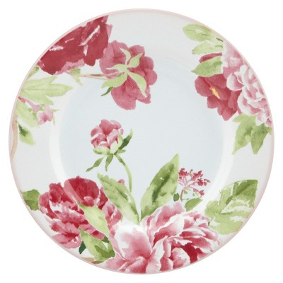 Kathy Ireland Home by Gorham Blossoming Rose Canape Dinner Plates Set of 4
