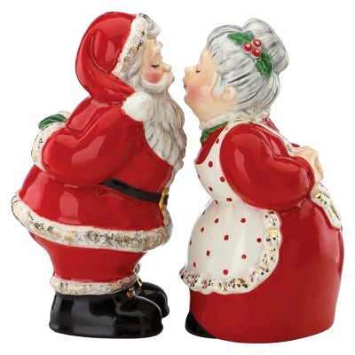 Kathy Ireland by Gorham Once Upon a Christmas Salt & Pepper Set - Santa