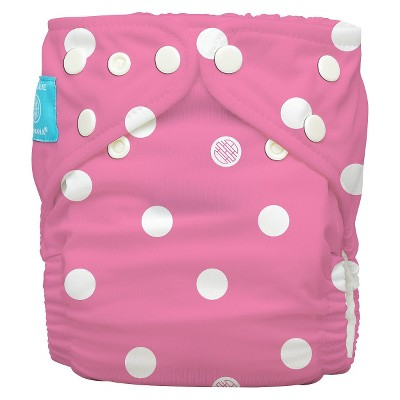 Charlie Banana Reusable Diaper - One Size, Pink with Dots