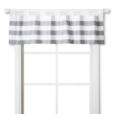 Circo™ Window Valance - Gray Rugby
