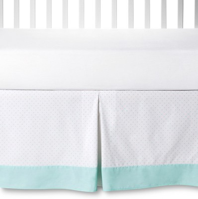 Circo™ Crib Skirt - Aqua Dot
