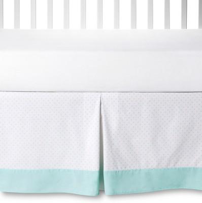 Circo™ Crib Skirt - Aqua Dot