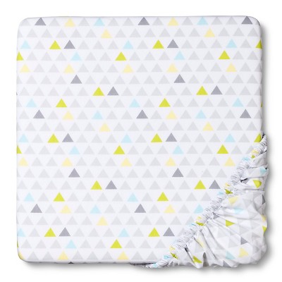 Circo™ Woven Fitted Crib Sheet - Geo Patchwork
