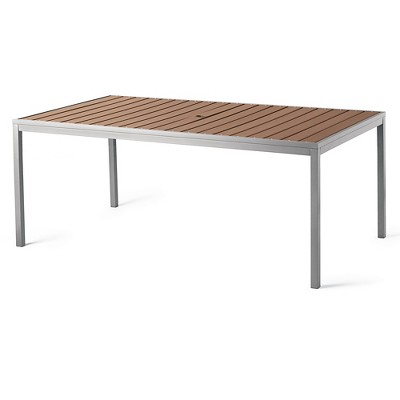 Bryant Faux Wood Rectangular Patio Dining Table - Threshold™