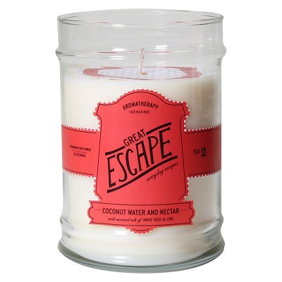 Aromatherapy Coconut Container Candle RED