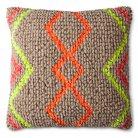 Mudhut™ Global Chindi Toss Pillow - Neon Yellow