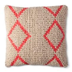 Mudhut™ Global Chindi Toss Pillow - Neon Pink