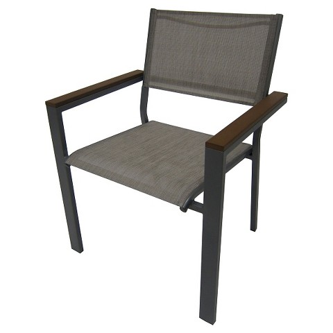 Threshold Bryant Sling Stacking Chair Silver Target