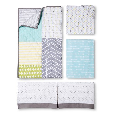 Circo™ 4pc Crib Bedding Set - Geo Patchwork