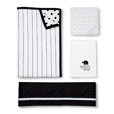 Circo™ 4pc Crib Bedding Set - Black & White