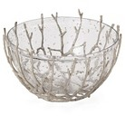 Torre & Tagus Decorative Twig Frame Glass Bowl - Clear/Beige