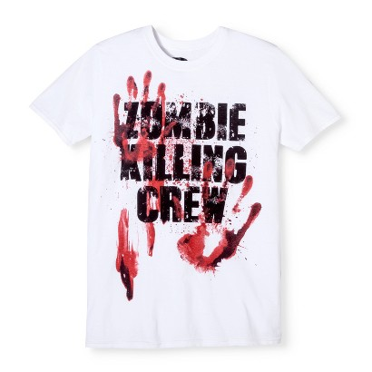 Image of Halloween Costume Zombie Killing Crew Men's T-Shirt - White