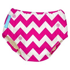 Charlie Banana Reusable Swim Diaper - Size Large, Hot Pink Chevron