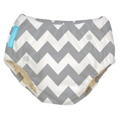 Charlie Banana Reusable Swim Diaper - Size Small, Grey Chevron