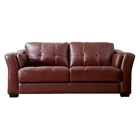 Fairview Leather Sofa Tar