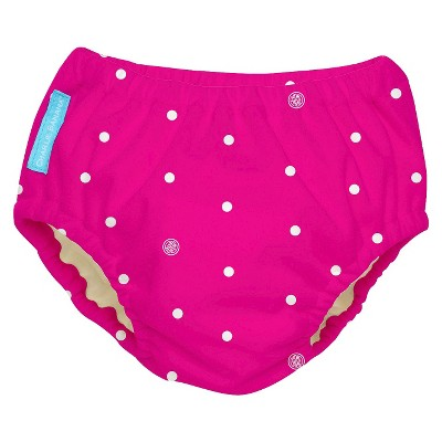 Charlie Banana Reusable Swim Diaper - Size Large, Hot Pink with Dots