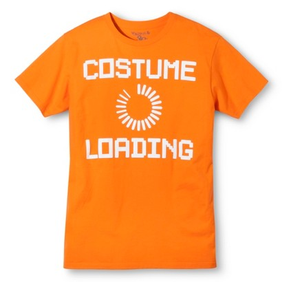 Image of Halloween Costume Loading Men's T-Shirt - Orange