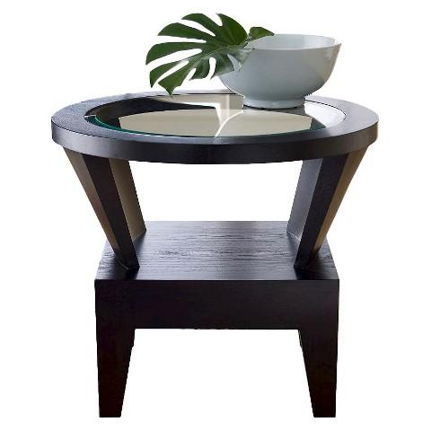 Abbyson living blackburn round glass end table target