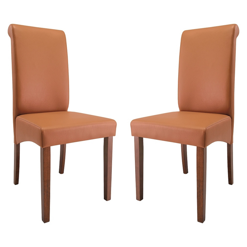 Abbyson Living Annie Dining Chair   Brown (Set of 2)