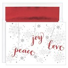 Peace Joy Love Holiday Boxed Cards (16 count)
