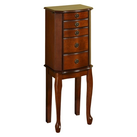 linon ruby jewelry armoire cherry target