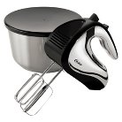 Oster® 6 Speed Hand Mixer with Mixing Bowl, Black, FPST2574CRBW