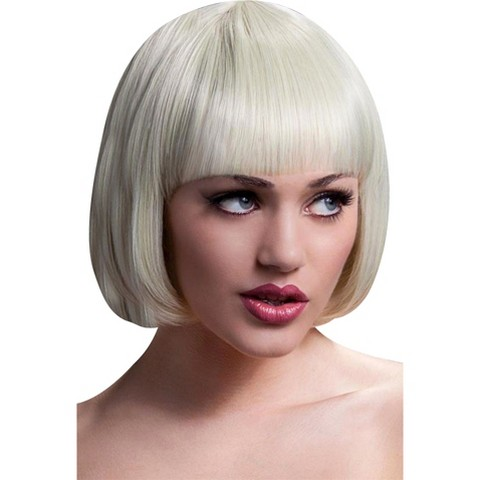 Short Blonde Wig Bangs 60