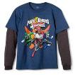 Power Rangers Boys' Long Sleeve Graphic Tee