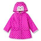 Infant Toddler Girls' Polka Dot Raincoat - Pink