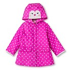 Infant Toddler Girls' Polka Dot Raincoat - Pink