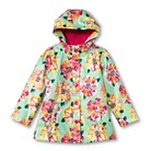 Infant Toddler Girls' Floral Raincoat - Mint