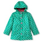 Infant Toddler Girl's Seahorse Raincoat - Teal