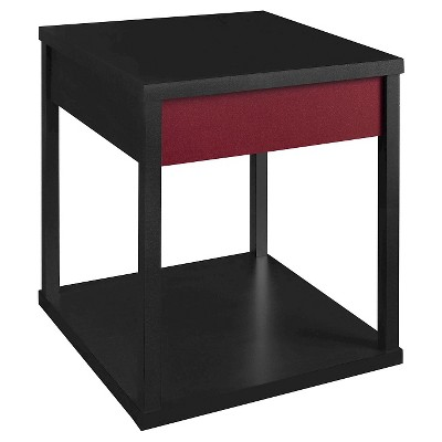 Parsons End Table Black/Red - Altra
