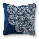 Mudhut™ Dhurrie Henna Decorative Pillow - Blue